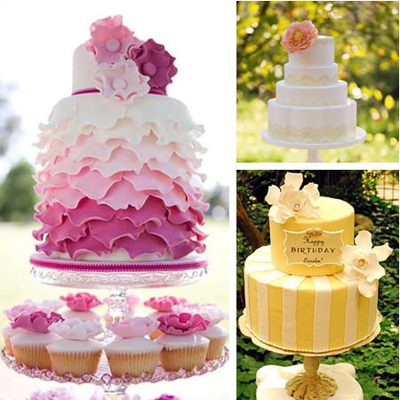 婚庆蛋糕手绘效果图