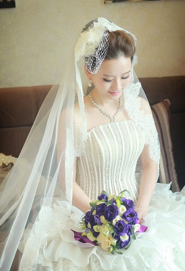 婚纱照发型图片_发型设计