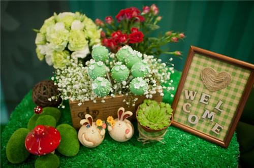 小清新森林系婚礼现场图片