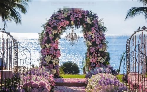 甜蜜公主风的三亚海边婚礼