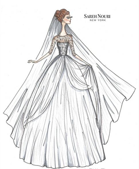 小礼服设计图手绘展示