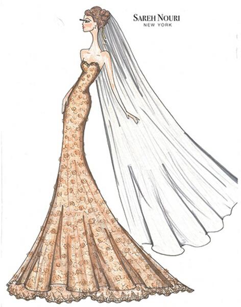 手绘唯美婚纱礼服设计图展示