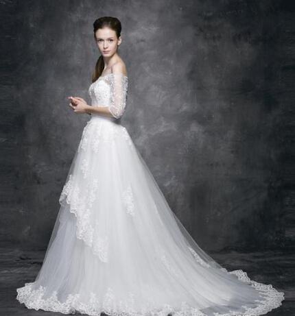 适合小个子女生的婚纱款式