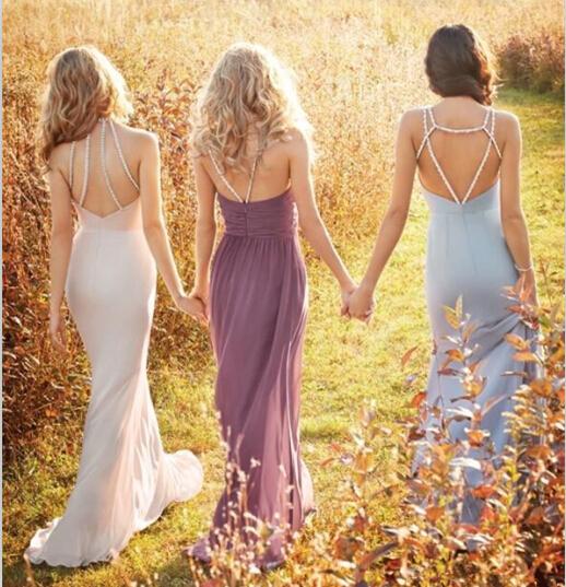 2016伴娘礼服色彩款式时尚趋势