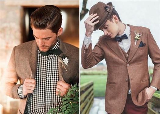 超有型时尚新郎礼服套装造型 别一黑到底