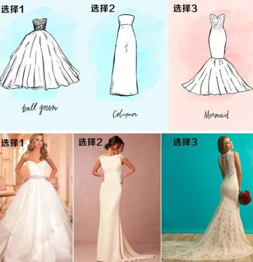 婚纱款式介绍 婚纱款式适合人群