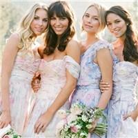 花朵系时尚伴娘团礼服 姐妹们的最爱澄海婚纱照,澄海婚礼策划,汕头婚纱照,汕头婚礼策划