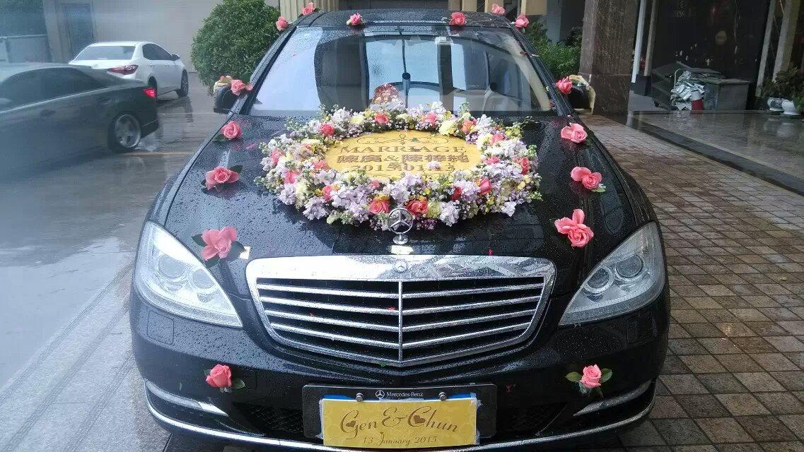个性婚礼彩车案例005澄海结婚上门彩车多少钱