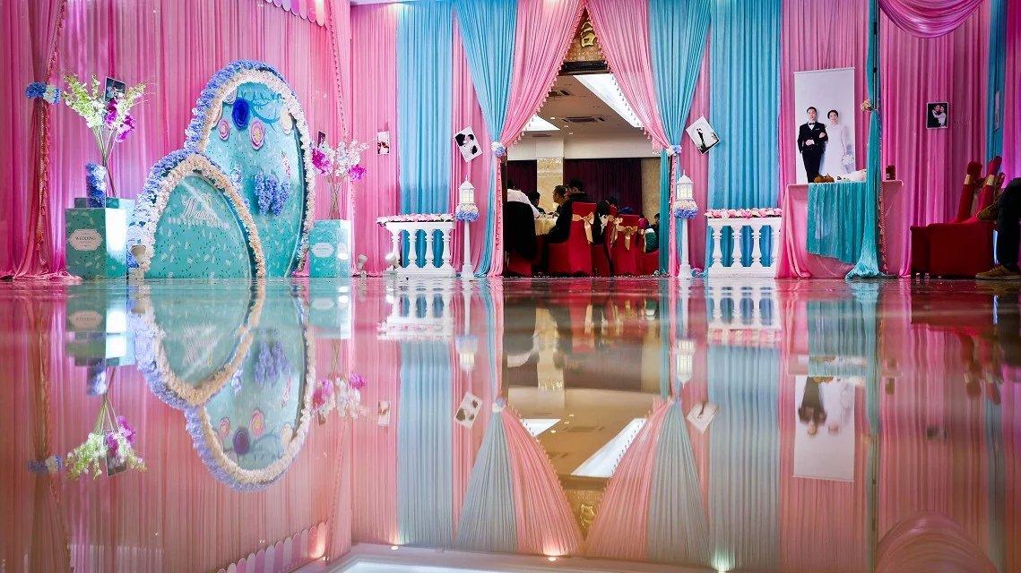 欧式婚礼布置效果图_欧式婚礼效果图图片